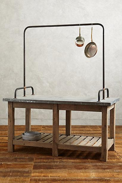 Zinc Topped Kitchen Island I Anthropologie
