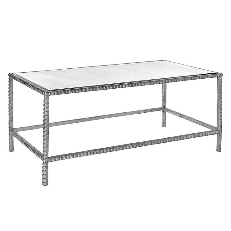 Emporium Home Stud Coffee Silver Table