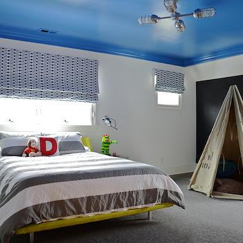 Kids Blue Ceiling, Contemporary, boy's room, D2 Interieurs