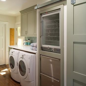 Laundry Room Wine Fridge, laundry room, Oz Custom Homes