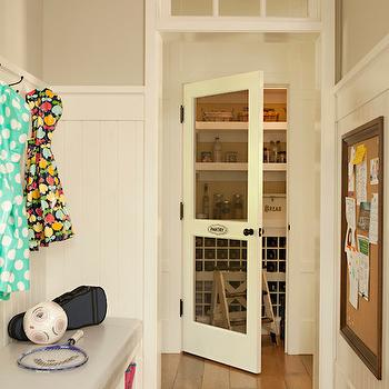 Kitchen pantry and mudroom combo with built in shoe for Mudroom pantry