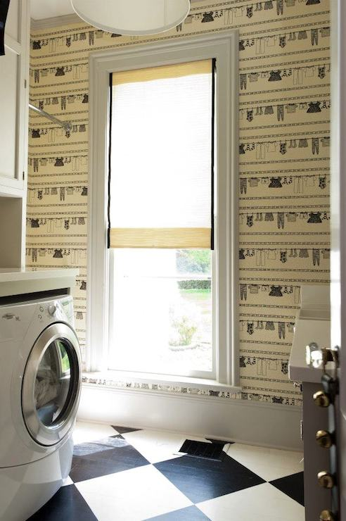 Laundry Room Picture Frames Laundry Room Wallpaper  Transitional  Laundry Room  Hannah