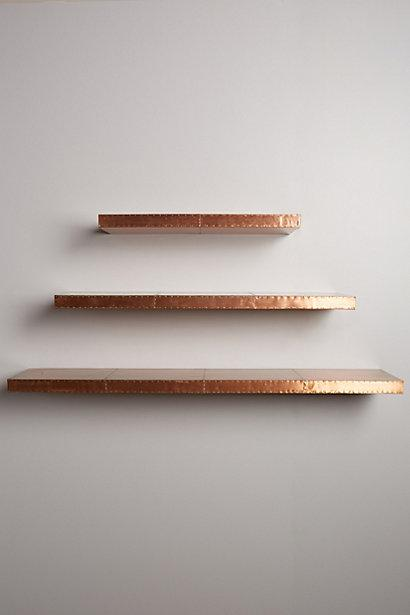 Burnished Copper Metal Floating Shelf