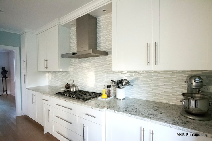 Bianco Romano Granite Countertops Contemporary Kitchen