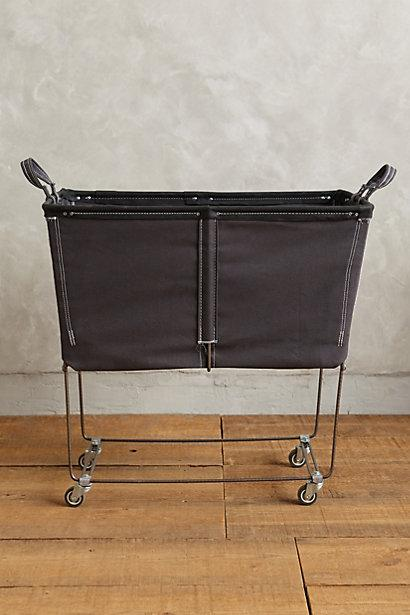 Claudette Grey Wire Hamper