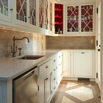 l shaped butlers pantry - Paint Inside Kitchen Cabinets
