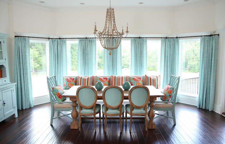 Aqua Dining Rooms Contemporary Dining Room