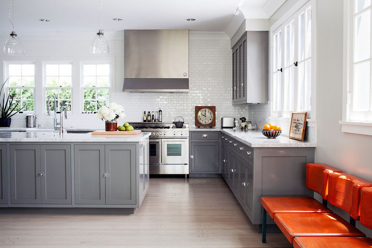 Gray Shaker Kitchen Cabinets Contemporary Kitchen Lonny Magazine - Light gray shaker kitchen cabinets