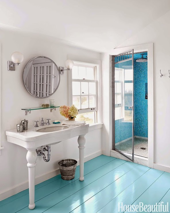 Turquoise Floors Cottage Bathroom Sherwin Williams