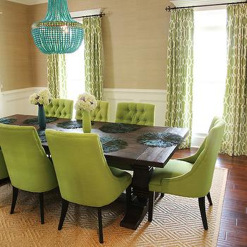 Green Dining Chairs, Contemporary, dining room, Colordrunk Design