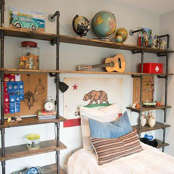 Wall Shelving Units For Bedrooms Industrial Wall Shelving Unit Design Ideas