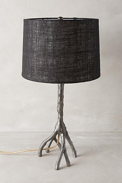 Silver and black metallic branch lamp ensemble aloadofball Image collections