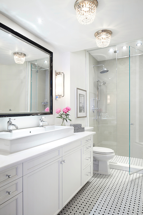 Beaded Flush Mount Transitional Bathroom Rob Stuart