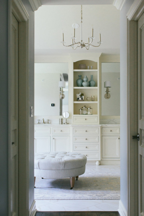 Ivory Framed Bathroom Mirrors Design Ideas