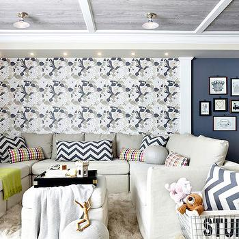 U Shaped Sectional, Contemporary, basement, Rob Stuart Interiors