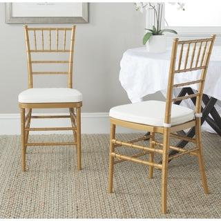 Safavieh Carly Gold Side Chairs (Set of 2), Overstock.com