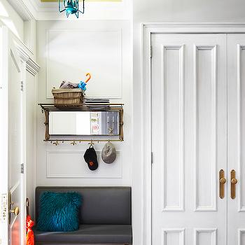 Turquoise Pagoda Lantern, Contemporary, laundry room, Rob Stuart Interiors