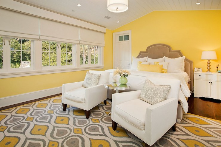 Yellow and Gray Bedrooms - Contemporary - bedroom - RT Abbott ...