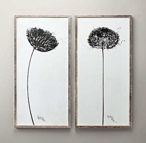 Very best Black and White Dandelion Art IB54