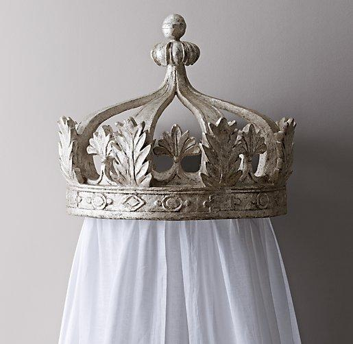 Pewter Canopy Bed Crown & Canopy Bed Crown