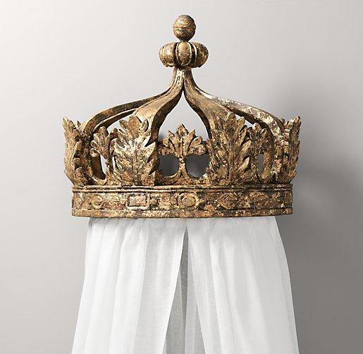 Gilt Gold Canopy Bed Crown