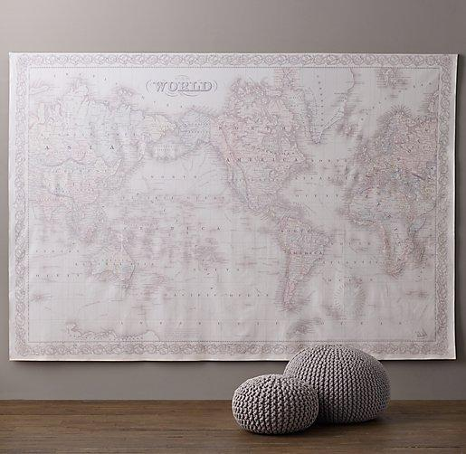 Parvez taj monde yellow and red canvas wall art bordered map grand canvas white and grey wall tapestry view full size gumiabroncs Images