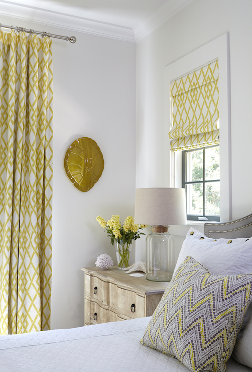 yellow and gray bedroom  cottage  bedroom  rice construction group, Bedroom decor