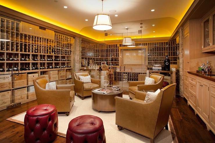 Wine Cellar Contemporary basement Giannetti Home