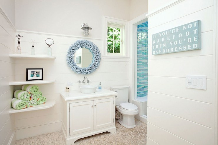Coral Mirror - Cottage - bathroom - RT Abbott Construction