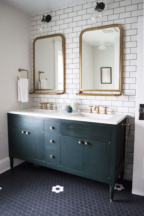 Astoria Mirror With Tray Transitional Bathroom