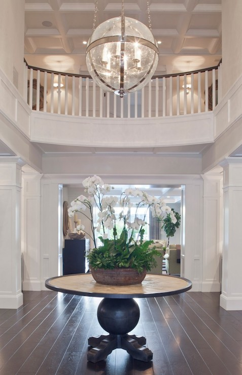 Foyer Light Over Table : Round foyer table transitional entrance brooke