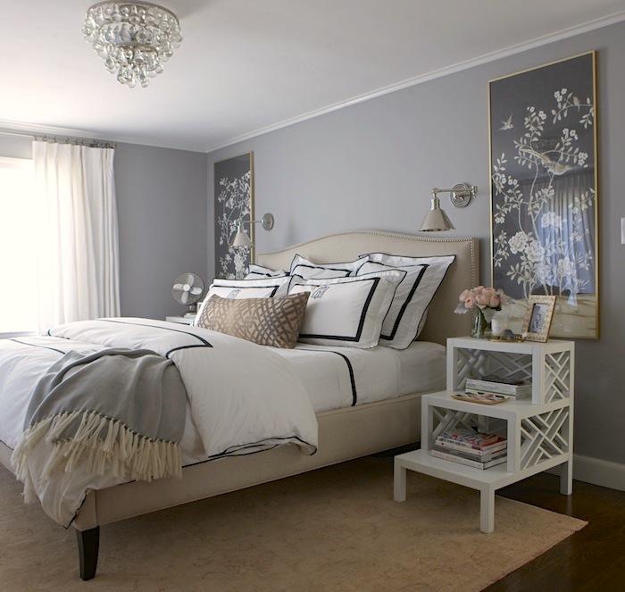 Step Nightstand Transitional Bedroom Benjamin Moore