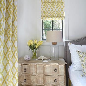 Yellow and Gray Bedrooms, Cottage, bedroom, Tracery Interiors