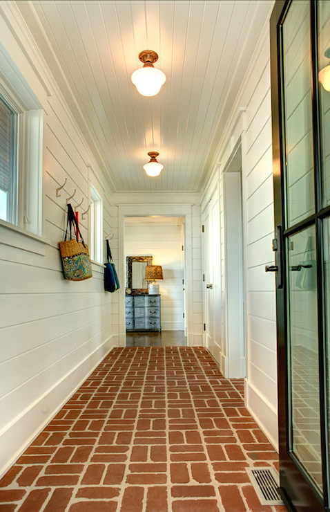 Interior Brick Pavers - Cottage - laundry room - Asher Associates ...