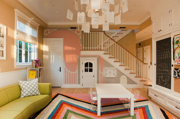 Under The Stairs Playroom Contemporary Basement Rt
