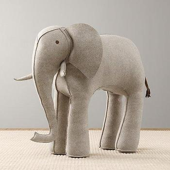 Oversized Wool Felt Elephant I RH Baby and Child