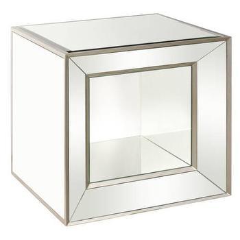 Bassett Mirror Minetta Silver Mirrored Cube