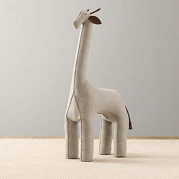 Oversized Wool Felt Giraffe I RH Baby and Child