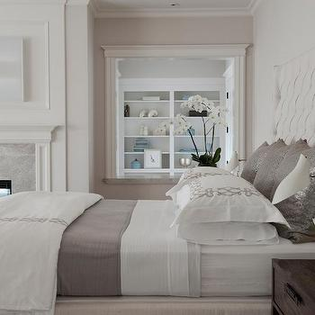 White and Gray Bedding, Transitional, bedroom, RT Abbott Construction