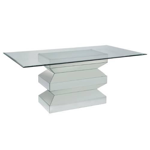Delightful Bassett Mirror Paparazzo Silver Dining Table