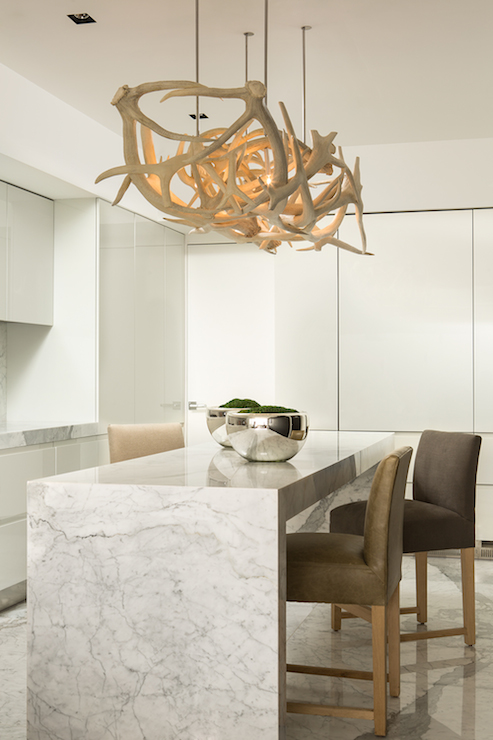 Gray leather dining room