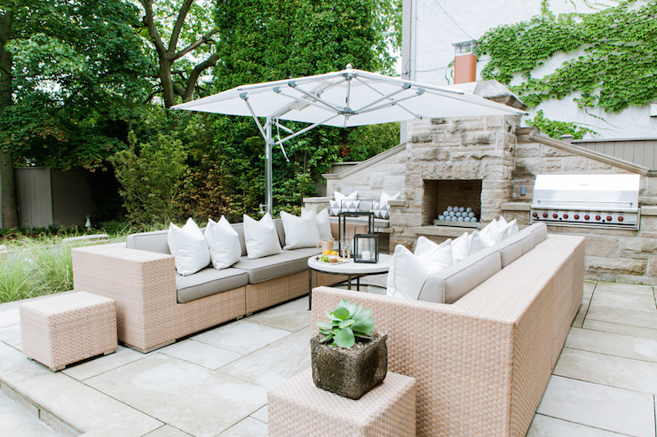 Stucco Outdoor Fireplace Design Decor Photos Pictures