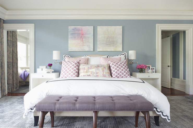 Merveilleux Purple Linen Bench