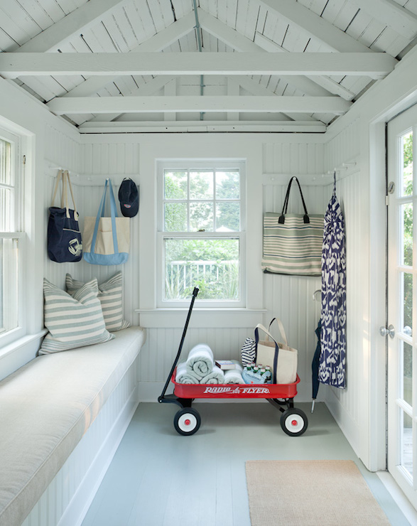 Cottage mudroom ideas cottage laundry room jenny for How to paint a house interior