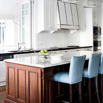 Blue Counter Stools, Transitional, kitchen, Highgate House