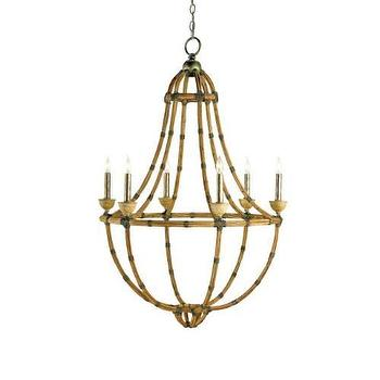 Currey and Company Palm Beach 6 Light Chandelier I Homeclick