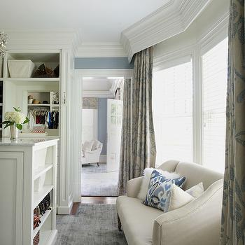 Hidden Curtain Rods Traditional Living Room