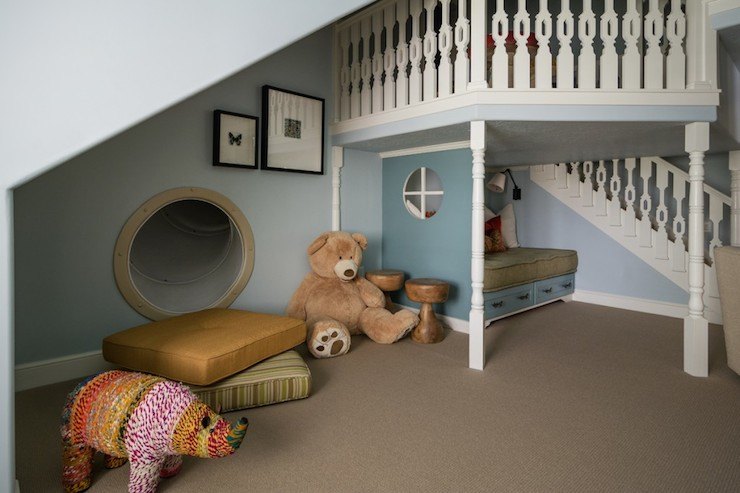 under the stairs playhouse traditional basement. Black Bedroom Furniture Sets. Home Design Ideas