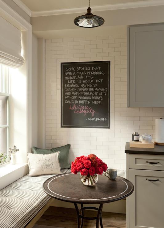 Kitchen Window Seat - Country - kitchen - Jenny Wolf Interiors