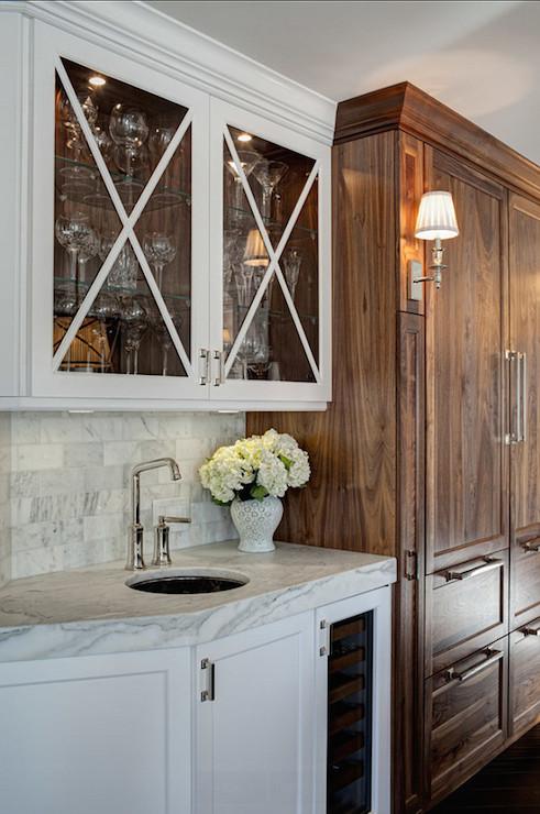Glass X Mullion Kitchen Cabinets Design Ideas